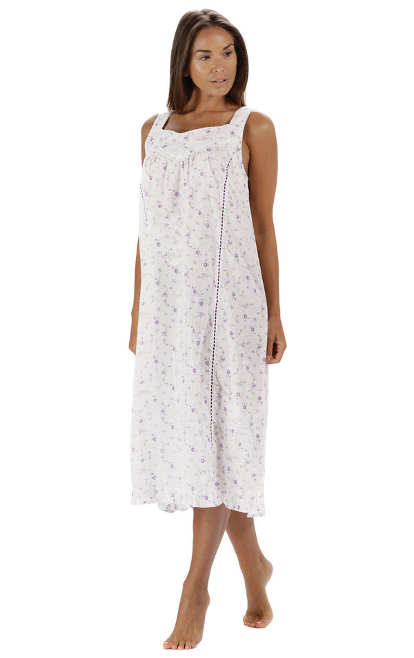 Model wearing Nancy Nightgown in Lilac Rose for Women image number 0