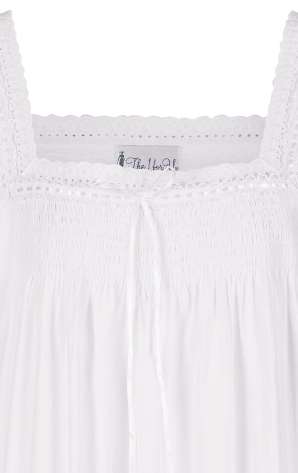 Model wearing Martha Nightgown in White for Women image number 6