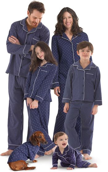 Dots-n-Stripes Matching Family Pajamas