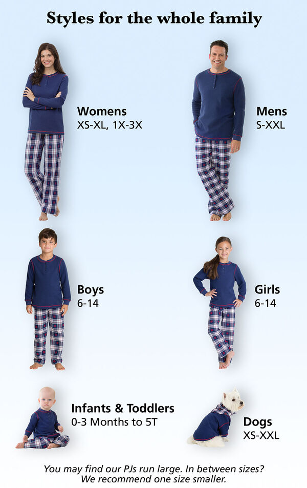 Snowfall Plaid Family Set Roomy Fit Tip image number 5