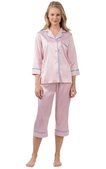 Dreamy Satin Capri Pajamas