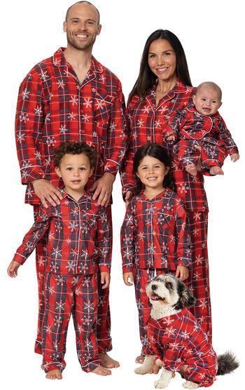Americana Plaid Snowflake Matching Family Pajamas