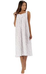 Model wearing Nancy Nightgown in Lilac Rose for Women image number 2