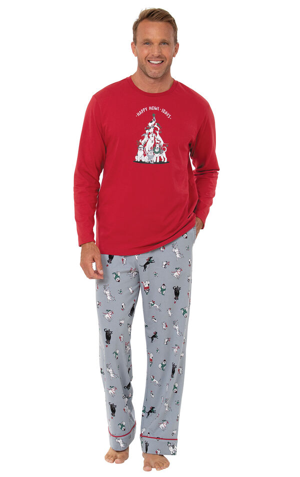 Happy Howlidays Men's Pajamas image number 0