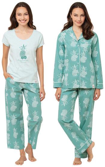 Margaritaville® Turquoise Breezy Bedtime & Pineapple Boyfriend PJs