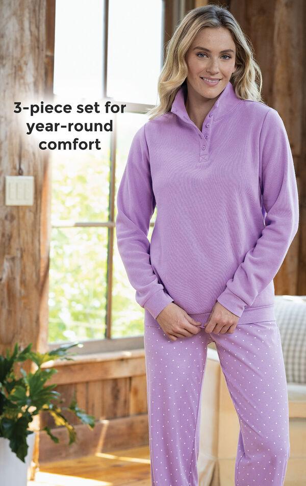 Classic Polka-Dot 3-Piece Pajama Set image number 3