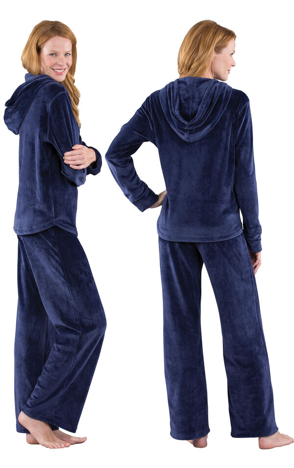 Tempting Touch Pajamas - Midnight Blue image number 1