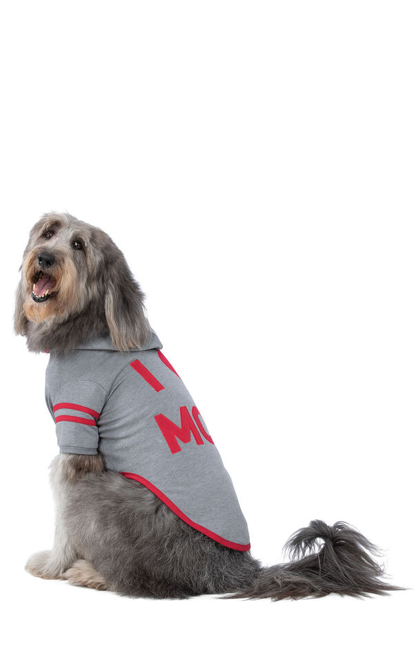 Model wearing Gray Hoodie PJ - Pet, facing to the side image number 2