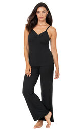 Naturally Nude Cami Pajamas - Black image number 0
