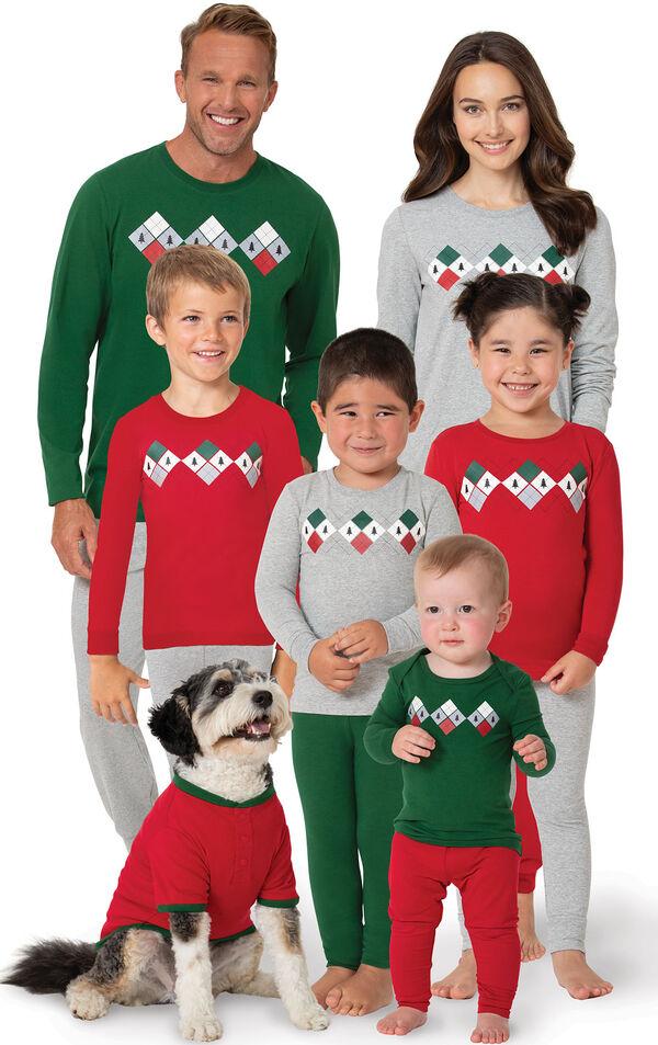 Holiday Argyle Family Set image number 0