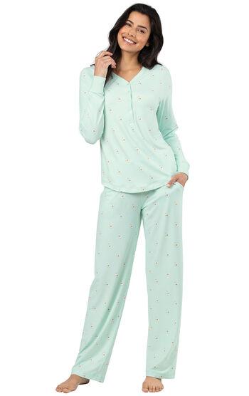 Addison Meadow|PajamaGram Whisper Knit Pajamas Henley PJs - Llamas