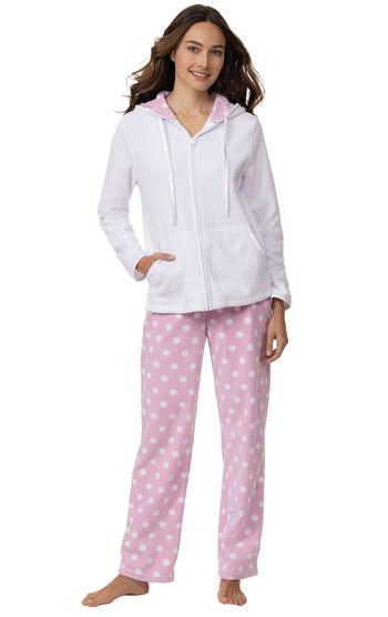 Snuggle Fleece Hoodie Pajamas - Pink