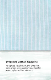 Aqua and White Stripe PJ for Women image number 4