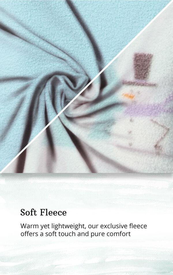 Snowmen - Aqua Top Fleece Jogger PJ for Women image number 4