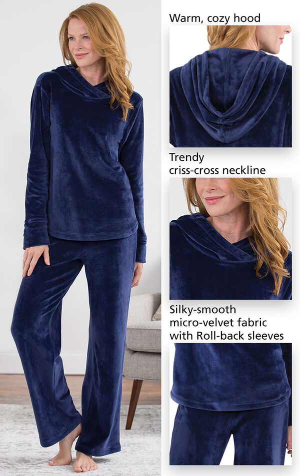 Tempting Touch Pajamas - Midnight Blue image number 2
