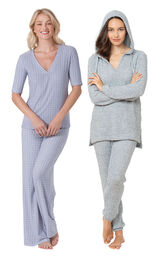 Blue Cozy Escape PJs and Naturally Nude PJs image number 0