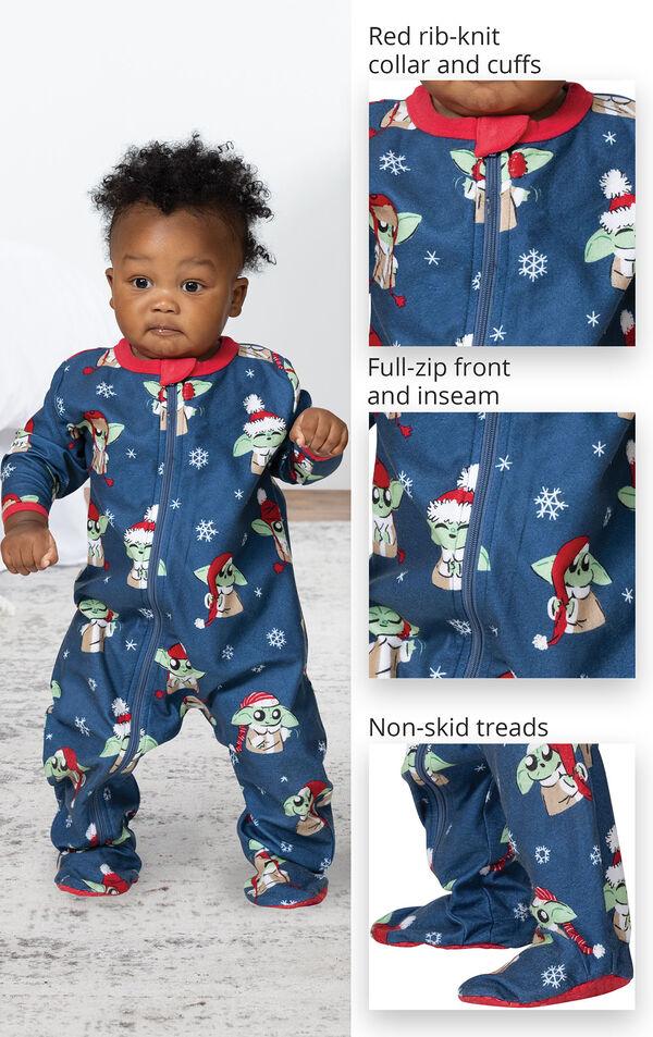 Baby Yoda Infant Pajamas by Munki Munki® image number 3