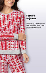 Festive Matching Pajamas celebrate the holidays with cute peppermint twists image number 3
