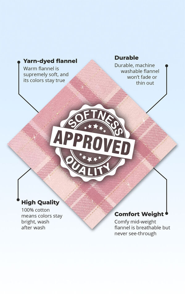 Glitzy Pink Plaid Hooded Pajamas image number 4