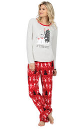 Model wearing Red Star Wars PJ for Women image number 0
