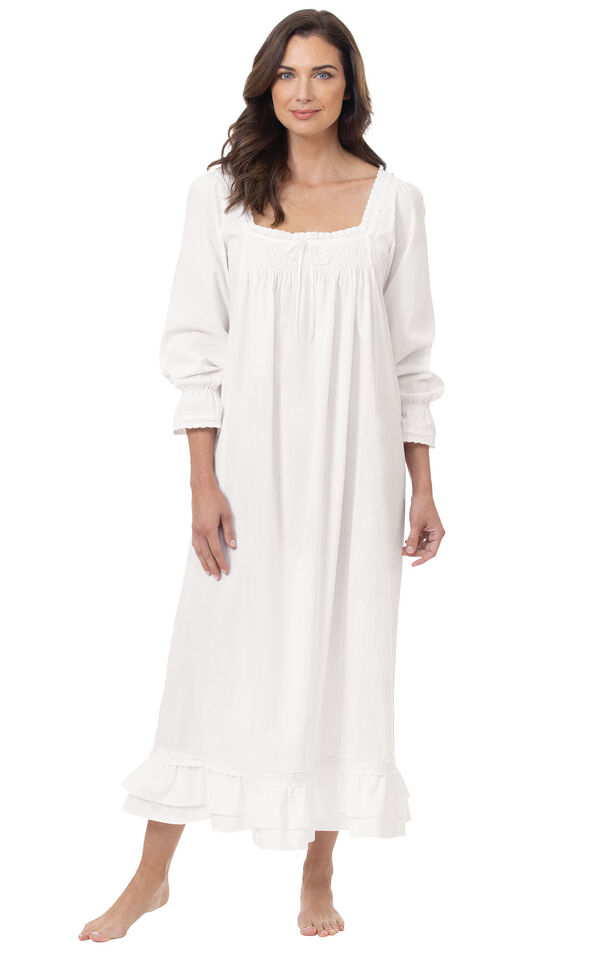 Model wearing Martha Nightgown in White for Women image number 3