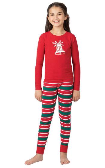 Christmas Stripe Girls Pajamas