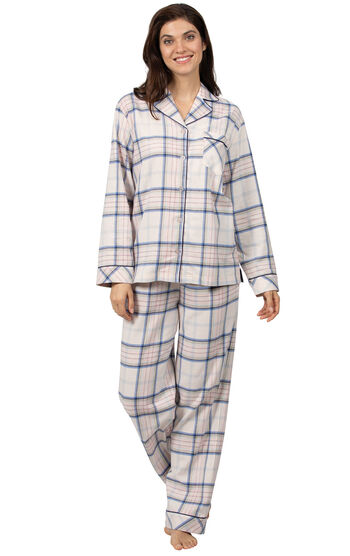 Addison Meadow|PajamaGram Frosted Flannel Pajamas - Pink Plaid
