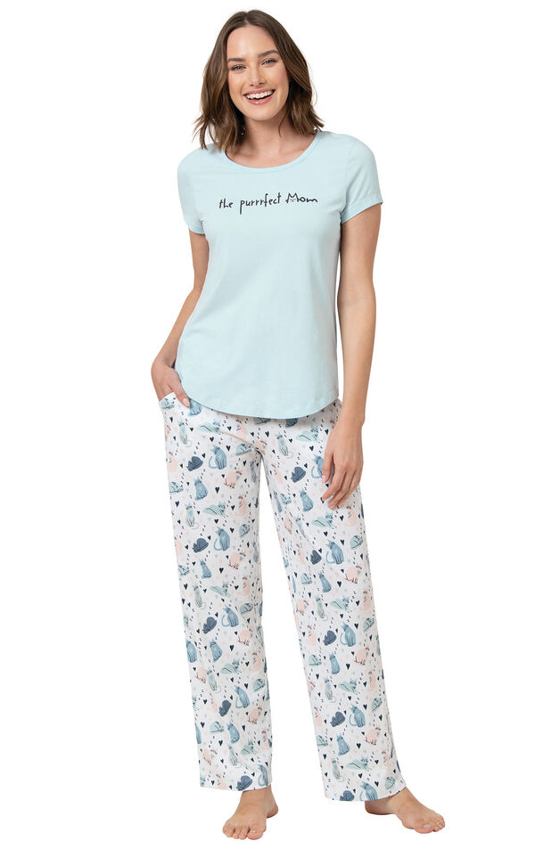 The Purrrfect Mom Women's Pajamas image number 0