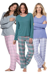 World's Softest Flannel Pullover Pajamas Ultimate Gift Set image number 0