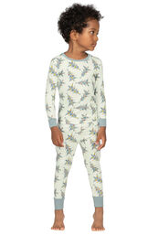 Model wearing Green Pine Tree PJ for Toddlers image number 0