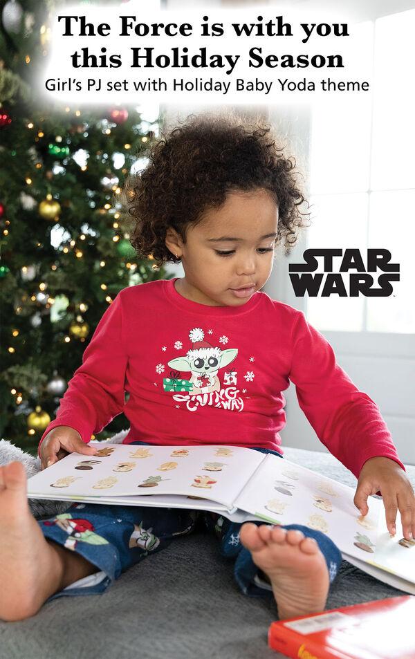 Baby Yoda Girls Pajamas by Munki Munki® image number 2