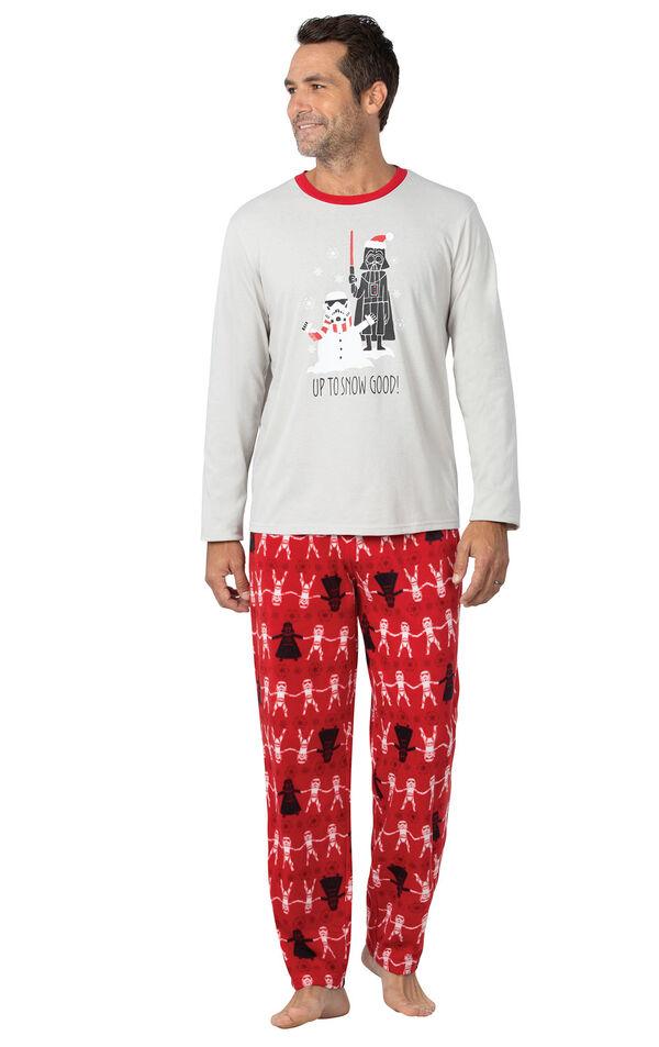 Model wearing Red Star Wars PJ for Men image number 0