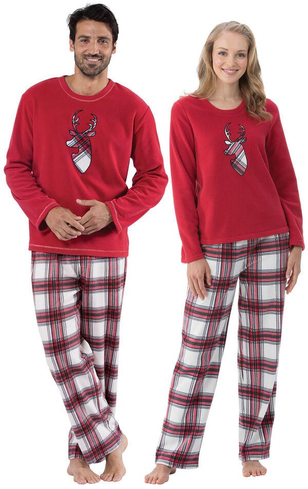 Fireside Fleece His & Hers Matching Pajamas image number 0