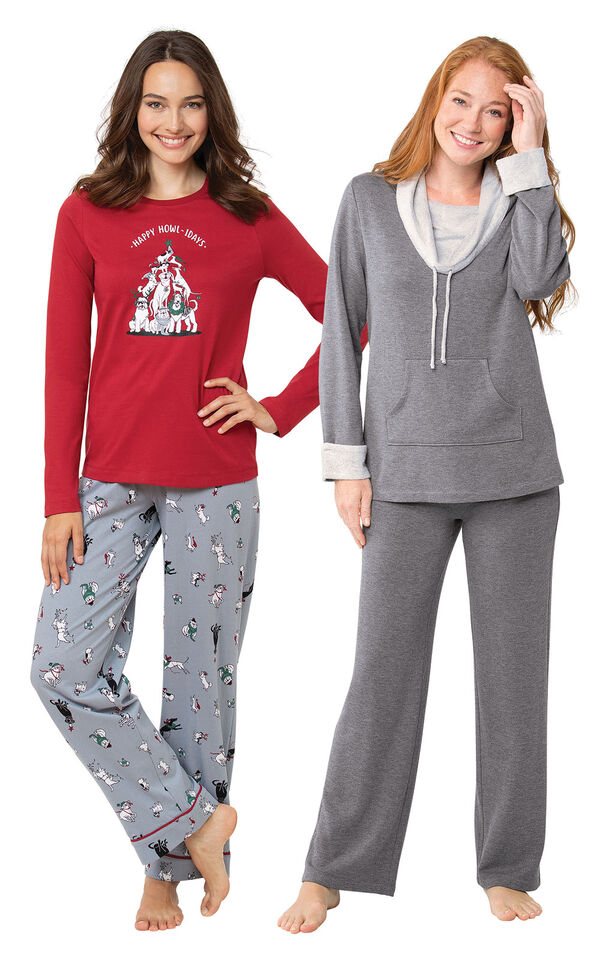 Happy Howlidays PJs and Charcoal World's Softest PJs image number 0