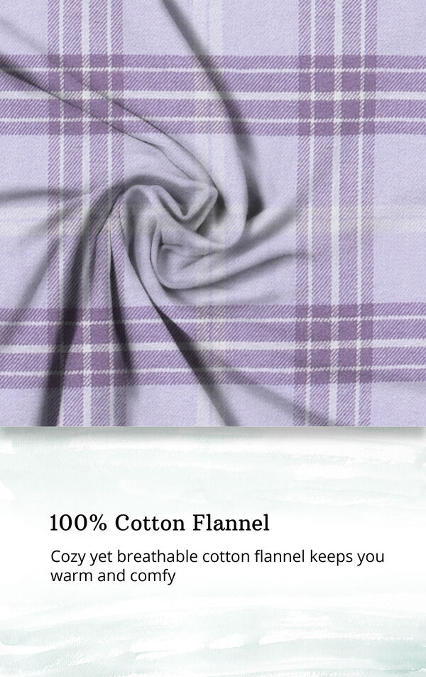 Lavender Plaid Gown for Women image number 3