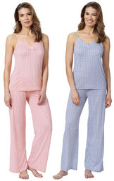 Pink and Blue Naturally Nude Cami PJs Gift Set image number 0