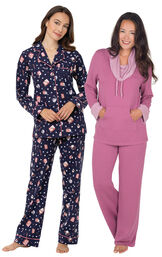 Mugs and Kisses Boyfriend PJs and Raspberry World's Softest PJs image number 0