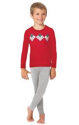 Holiday Argyle Boy's Pajamas image number 0