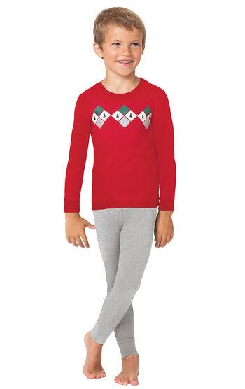 Holiday Argyle Boy's Pajamas