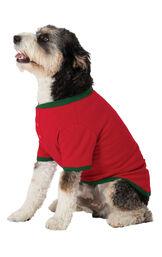Holiday Argyle Dog Pajamas image number 2