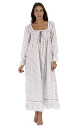 Model wearing Martha Nightgown in Lilac Rose for Women image number 0