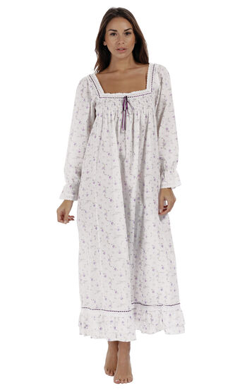 Martha Nightgown - Lilac Rose