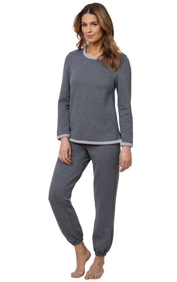 Model wearing World's Softest Gray PJ for Women image number 0