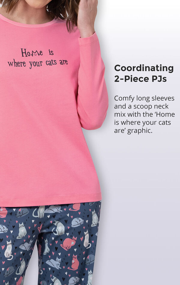 Home Is Where Your Cats Are Women's Pajamas image number 3