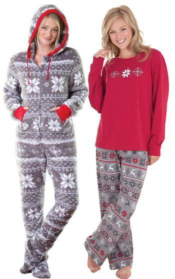 Nordic Hoodie-Footie™ & Nordic Women's Pajamas