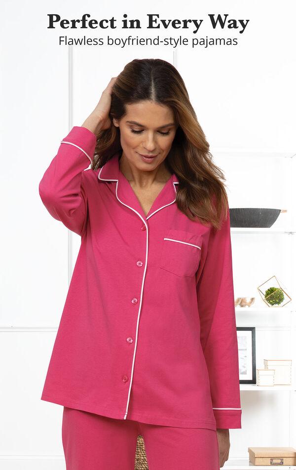 Jersey Boyfriend Pajamas are perfect in every way - Flawless boyfriend-style pajamas image number 2