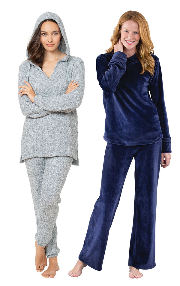 Blue Cozy Escape PJs and Tempting Touch PJs image number 0