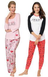 Friends PJs and I love Lucy Chocolate Factory PJs