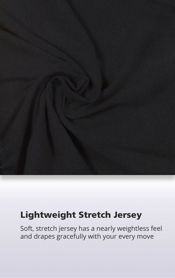 Soft, stretch jersey has a nearly weightless feel and drapes gracefully with your every move image number 4
