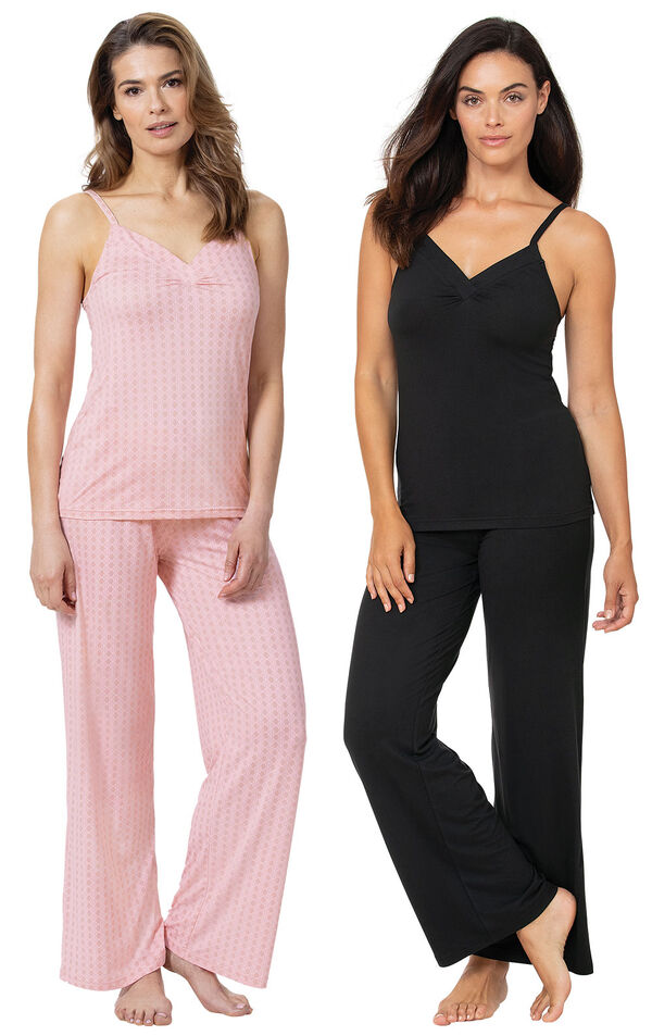Pink and Black Naturally Nude Cami PJs Gift Set image number 0